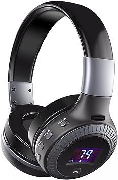 Auriculares Bluetooth Diadema ELEGIANT Auriculares Inalámbricos Bluetooth 4.0 Estéreo 4 Modos de Altavoz con Micrófono Tarjeta SD TF con FM Radio campatibles con los móviles de Iphone ios y de Android: Amazon.es: