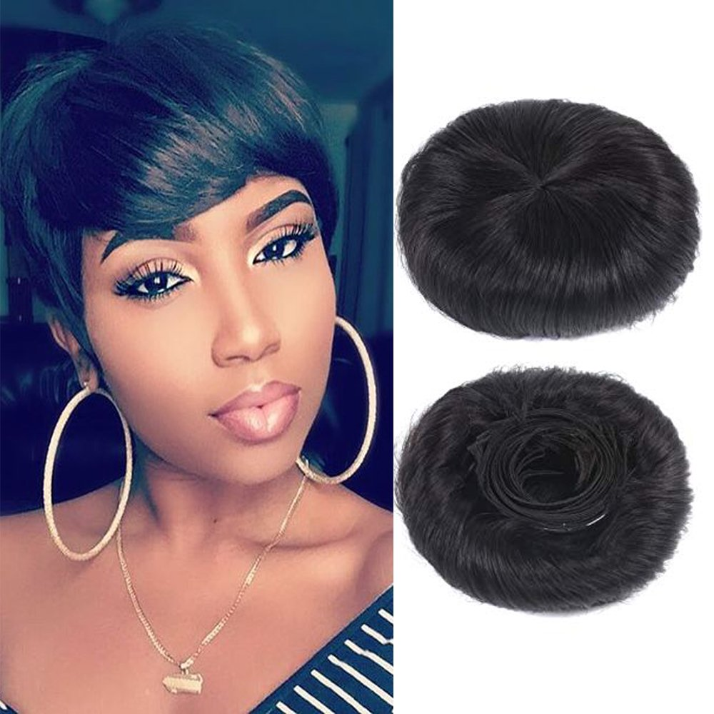 Amazon 27 Peices Short Human Hair Weave With Top Closure Wavy