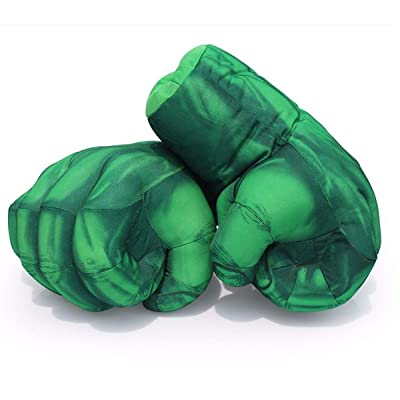 sportuli - Guantes de Felpa para niños, Guantes de Boxeo, Guantes de superhéroe para Cosplay, 1 par, Hulk: Deportes y aire libre
