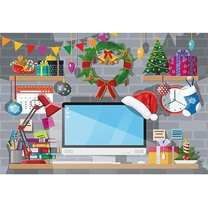 YongFoto 3x2m Navidad Fondo Dibujos animados Escritorio de ...