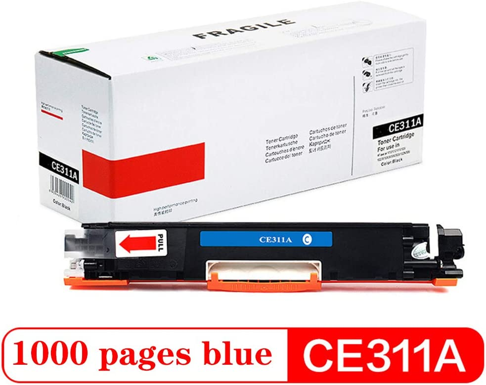 Print 1000 Pages-Fourcolor for HP CP1025nw M175a M175nw M275nw LBP7010C 7018C CRG329 Toner Cartridge Black, Blue, Yellow, red Compatible Cartridge Replacement for CE310A CE313A CE311A CE312A