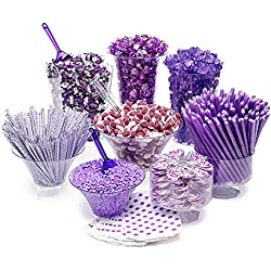 Purple Candy Kit - Party Candy Buffet Table: 25 to 50 Guests