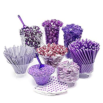 purple candy kit party candy buffet table 25 to 50 guests amazon rh amazon com