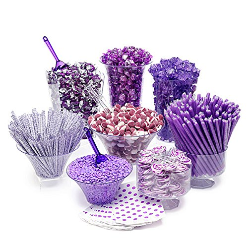 (Purple Candy Kit - Party Candy Buffet Table: 25 to 50 Guests)