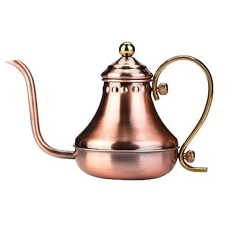 Hervidor de café de acero inoxidable, hervidor de agua de té de ...