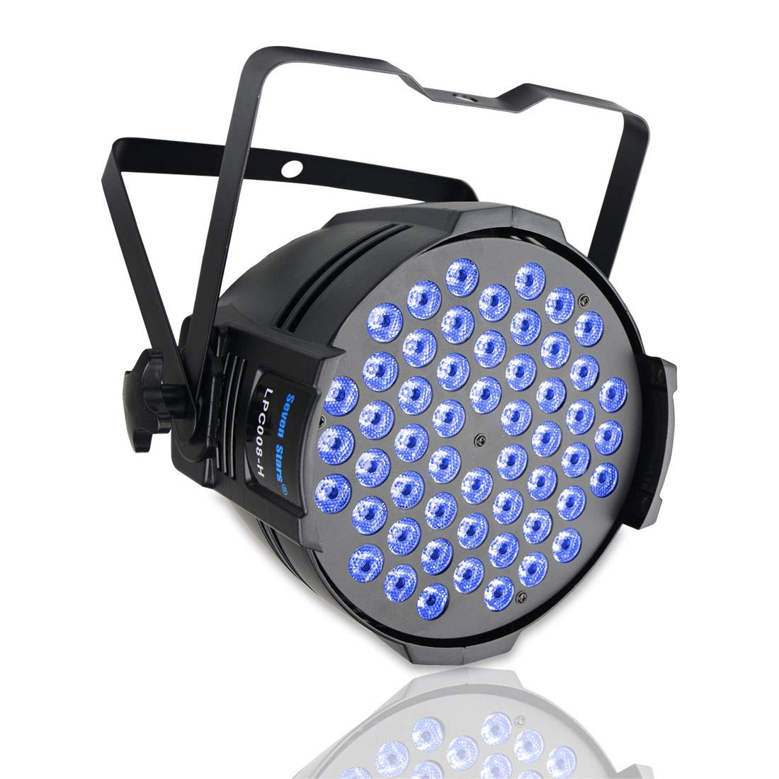 DJ PAR Light 180W RGBW LED Stage Lights 4/8 Channel DMX 512 Stage Lighting Self-supporting for DJ Wedding Party Church Concert Dance Stage Music Events Seven Stars