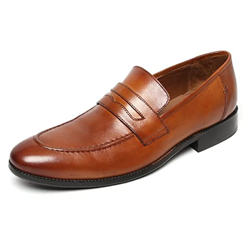 887558539c9 Brune Tan Color 100% Genuine Leather Penny Loafers for Men Size-6  Buy  Online at Low Prices in India - Amazon.in