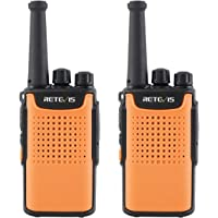 Retevis RT667 Talkie Walkie sans Licence PMR446 16 Canaux Talkie-Walkie Professionnel Squelch VOX Scan Surveillance CTCSS/DCS TOT Radio Bidirectionnelle (Orange,1 Paire)