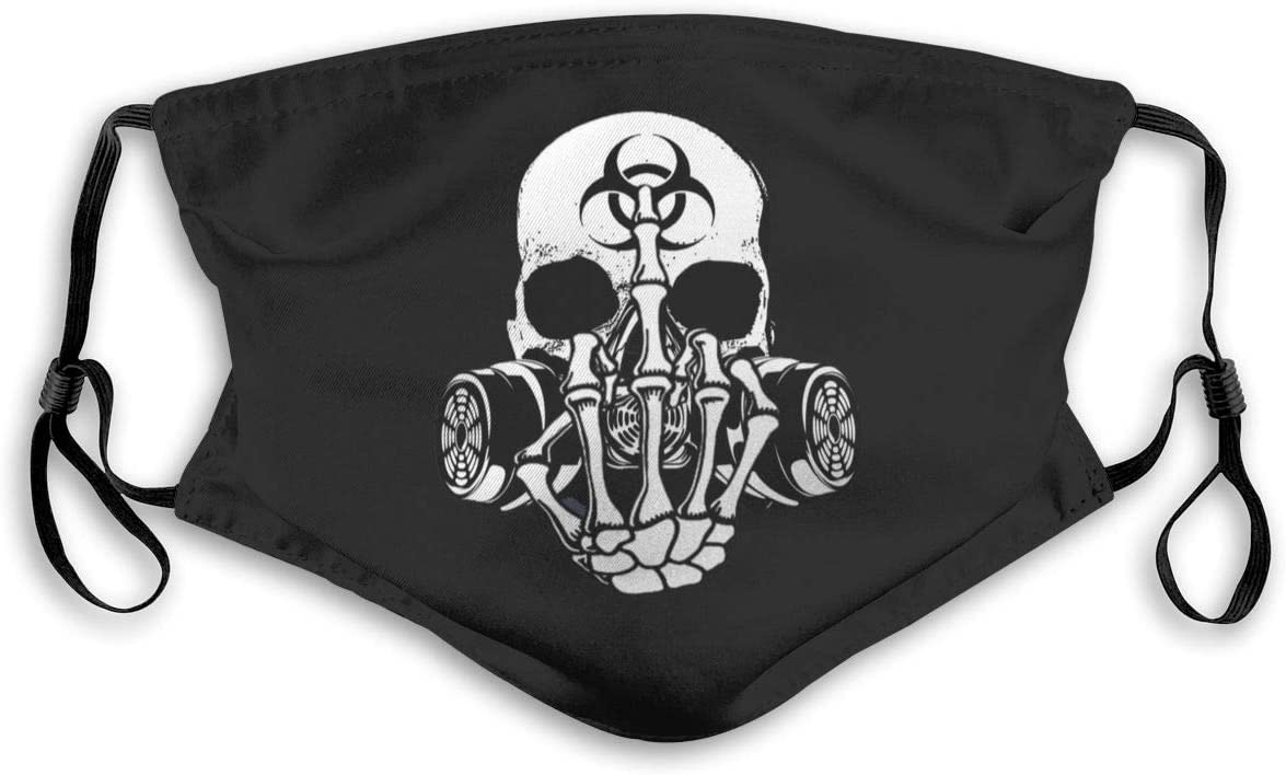 Cdddma Bandana Respirant Balaclava Biohazard Zombie Skull Fuck U Filtre Balaclava