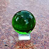 Crystal Globe Statue Decoration Holiday Party Office Decoration Craft Gift (Green)