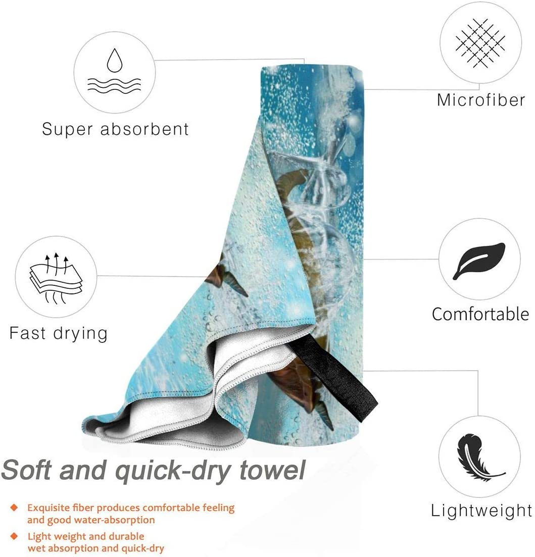 Swim Travel 27.5 X 51 Sand Free Towels Absorbent For Bath Beach Towels Funny Turtle Quick Dry Towel Blanket Spa