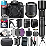 Holiday Saving Bundle for D7200 DSLR Camera + 18-105mm VR Lens + 500mm Telephoto Lens + 32GB Class 10 Memory Card + 1yr Extended Warranty + Case + T-Mount Adapter - International Version