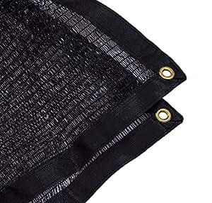 jesasy 40% Premium gamuza de pantalla de lámpara pantalla de tela Net para pérgola Patio jardín nuevo diseño Shade Panel con ojales negro