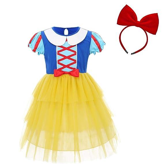 FYMNSI Niñas Disfraz de Blancanieves Vestido de Princesa Grimms ...