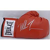 $99 » Mike Tyson Autographed Red Everlast Boxing Glove RH Signed In Silver Beckett BAS Stock #155773
