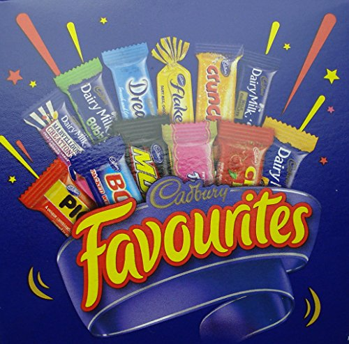 Cadbury Favourites Chocolate Variety 320gm (11.3oz) Gift Box - Dream, Crunchie, Boost, Dairy Milk, Picnic, Caramello, Marvelous Creations, Moro, Cherry Ripe, Turkish Delight, Flake
