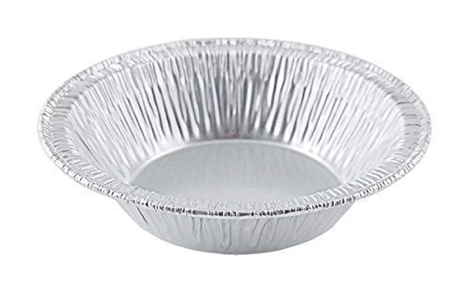 "Aluminum Foil Disposable Baking Tart pans - 3 3/8"" Pie Tins Mini Pie pans for Hot and Cold Foods Made in USA (Pack of 100)"