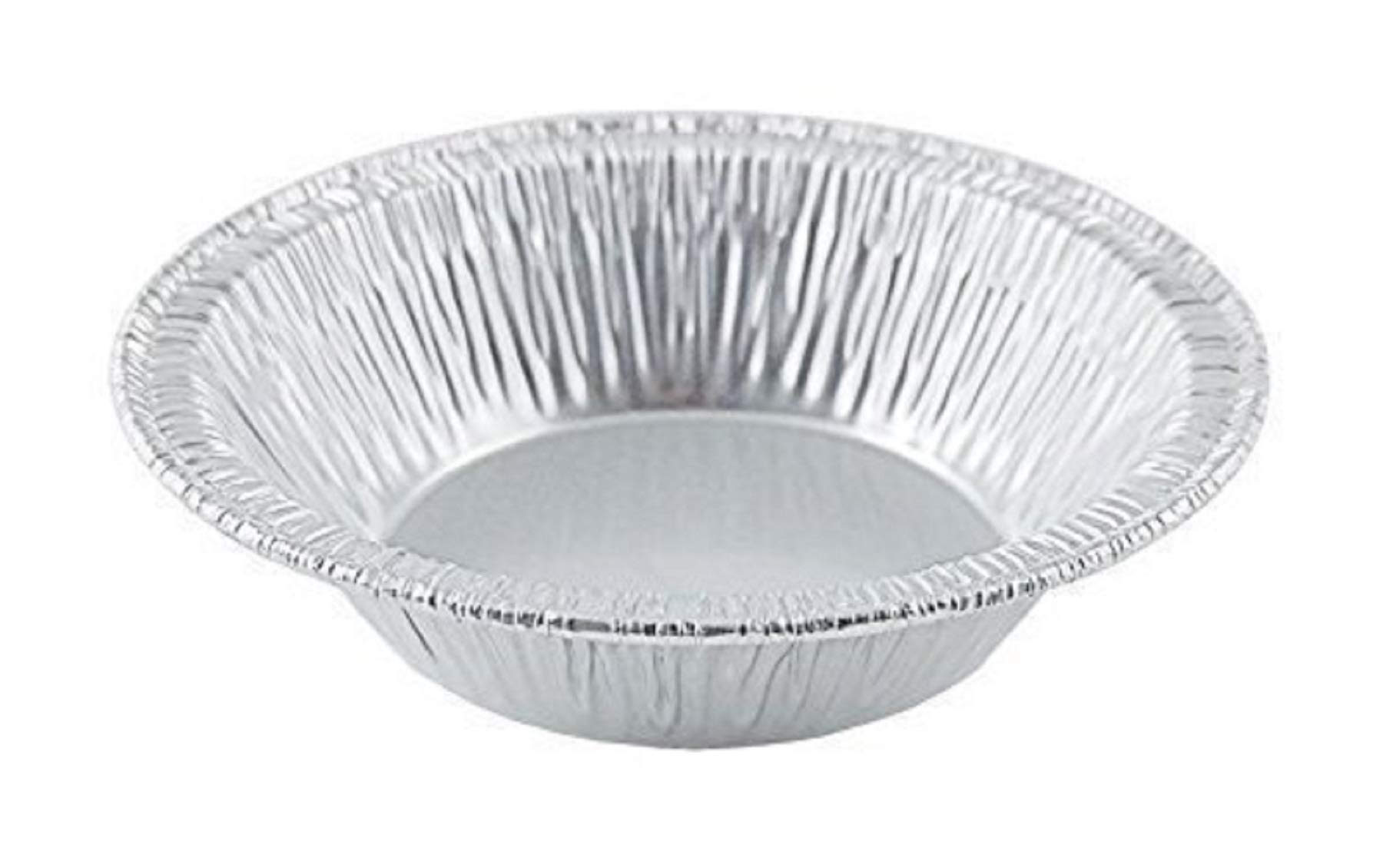 Small Mini Aluminum Foil Disposable Baking Tart Pans - 3 3/8 inches Pie Tins for Hot and Cold Foods Made in USA (Pack of 100) by The Baker Celebrations
