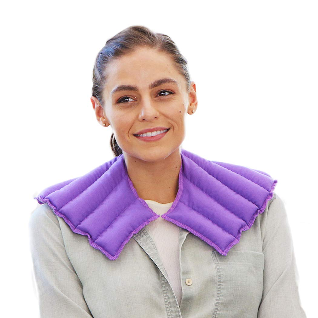 My Heating Pad – Neck and Shoulder Wrap for Stress, Tension, Migraine Relief - Microwavable and Reusable – Hot Therapy Pack (Purple) (Buy 1 Get 1 Free-Limited Time Offer) by My Heating Pad