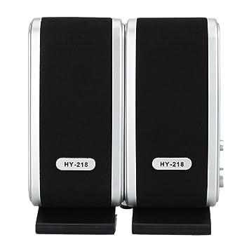 6 W USB 2.0 Power 3.5 mm Altavoces para ordenador portátil HY-218 USB Multimedia altavoz acústica: Amazon.es: Electrónica