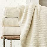 Peacock Alley Riviera Blanket, King, Pearl