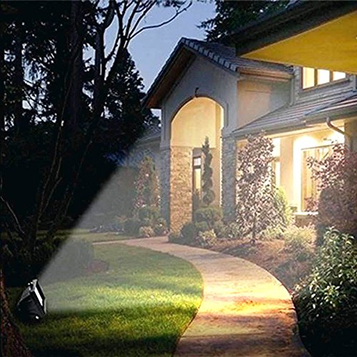 Solar Power LED Flood Night Light 10w Garden Spotlight Waterproof Outdoor Lamp (Energy class A++) (Cold White) by Homdox (Image #7)