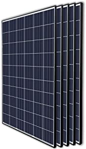Renogy 5Pcs 270 Watt 24 Volt Solar Panel 1350W for Off-Grid On-Grid Large Solar System, Residential Commercial House Cabin Sheds Rooftop, Multi-Panel Solar Arrays