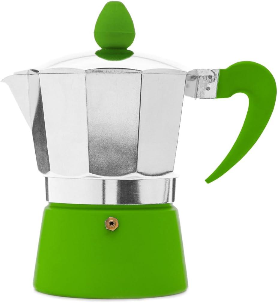 San Ignacio IN029GR Cafetera para 1 Servicio en Color Verde, Aluminio: Amazon.es: Hogar