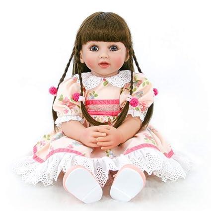 DollMai 60cm High-End Vinyl Silicone Reborn Baby Doll Toy Newborn Princess Girl
