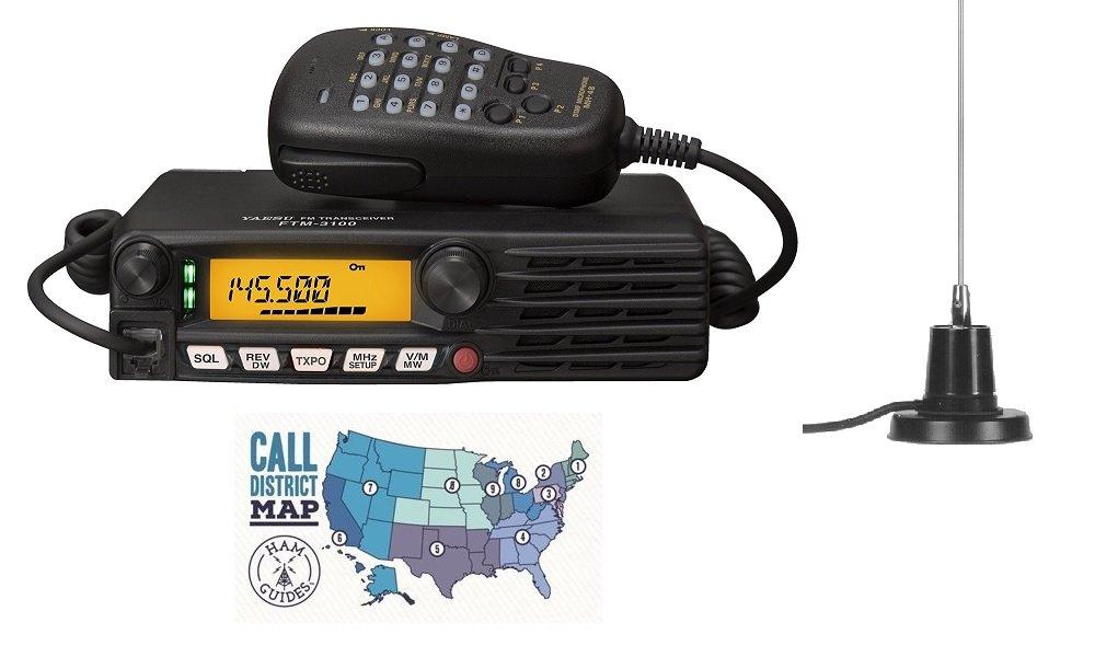 Yaesu FTM-3100R 2M Radio w/MFJ-1728B Mobile Antenna and Ham Guides Pocket Reference Card Bundle! by Yaesu