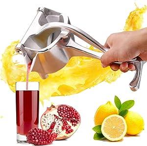 Citrus Manual Juicer, Lemon Squeezer Press UPGRATED Fruit Press Manual Juicer, Detachable & Adjustable Multifunctional Manual Fruit Juicer