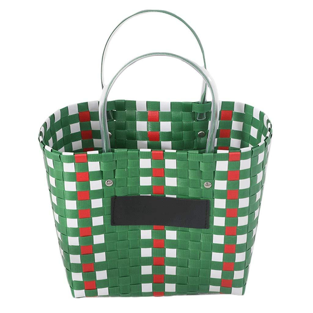 Tragbarer Korb für für für Picknickkorb-Rattan-Aufbewahrungskorb (Farbe   B) B07MV1K4D4 Krbe & Koffer Jeder beschriebene Artikel ist verfügbar 2dcac0