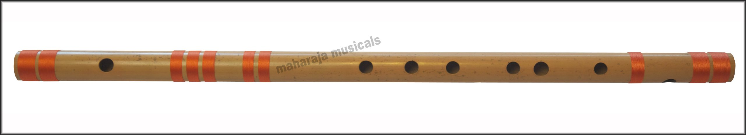 Bansuri, Indian Bamboo Flute, Scale G Sharp Bass, 24.5 Inches, Maharaja Musicals, Concert Quality, Accurately Tuned, Hindustani Professional Bansuri Indian Flute, Nylon Pipe Bag Included (PDI-CGE)