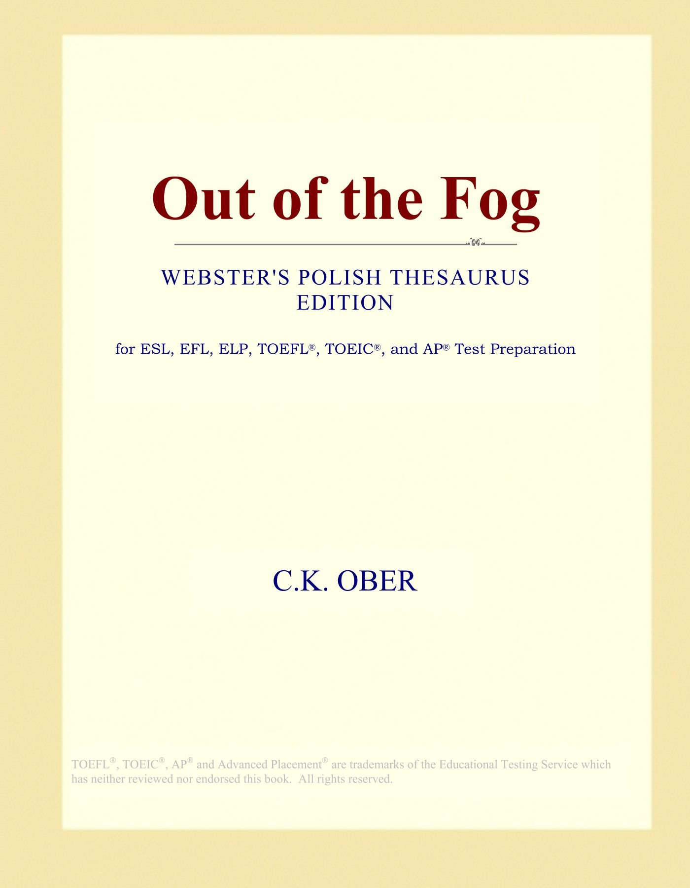 Out of the Fog (Webster's Polish Thesaurus Edition) pdf