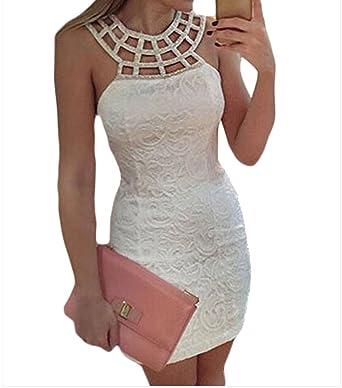 772bcc74346a Ovender Mini Abito Cerimonia da Donna Vestito Corto Elegante da Sera Ballo Festa  Party  Amazon.it  Abbigliamento