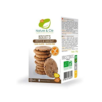 GALLETAS CON PEPITAS DE CHOCOLATE SIN GLUTEN BIO, 130 g ...