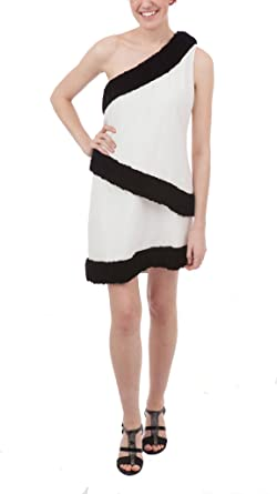 182b6692932 Image Unavailable. Image not available for. Color  Rachel Zoe White Ruffle  Shift Dress ...