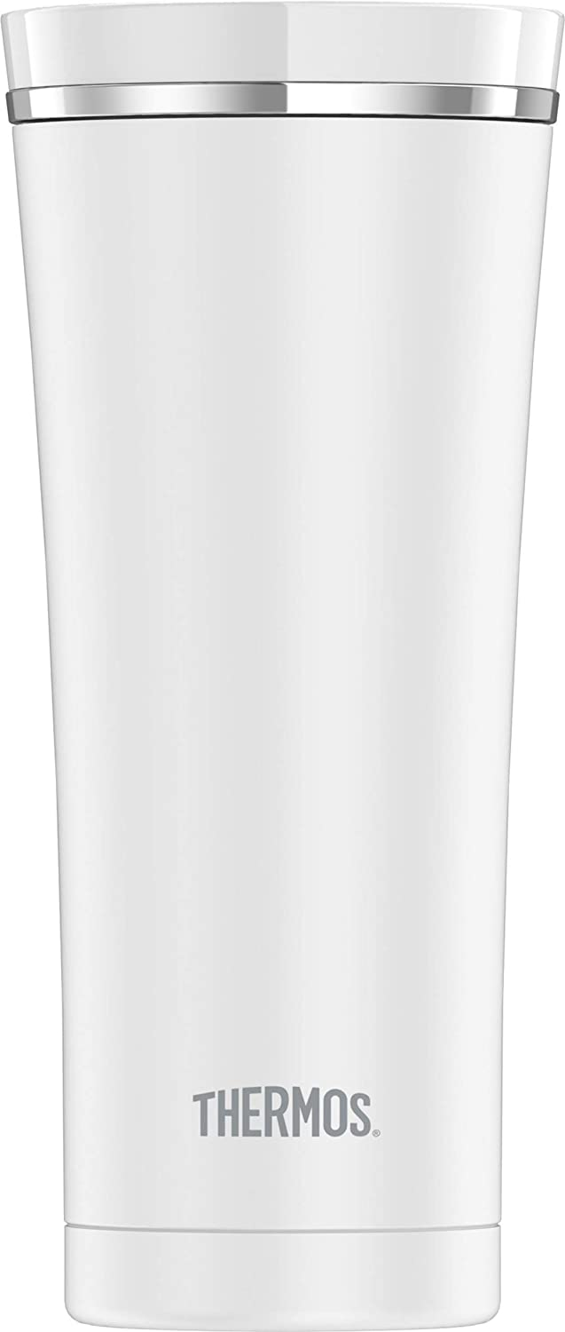 Thermos Sipp 16 Ounce Stainless Steel Travel Tumbler, Matte White