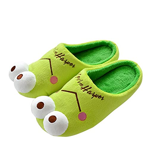 Feetmat House Slippers Non-Slip Cute Animal Plush Winter Slippers