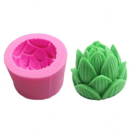 Amazoncom 3d Lotus Flower Silicone Mold Moldfun Lotus Mould For