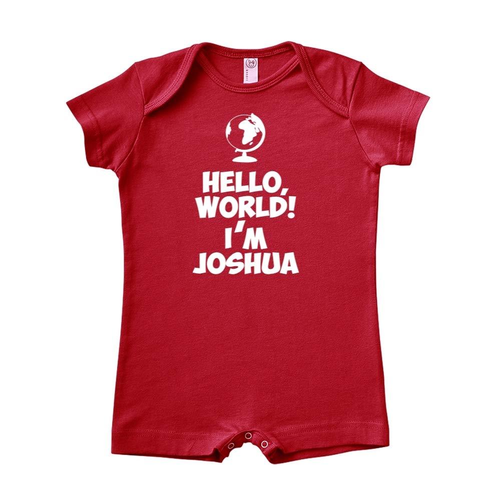 Personalized Name Baby Romper Im Joshua World Mashed Clothing Hello