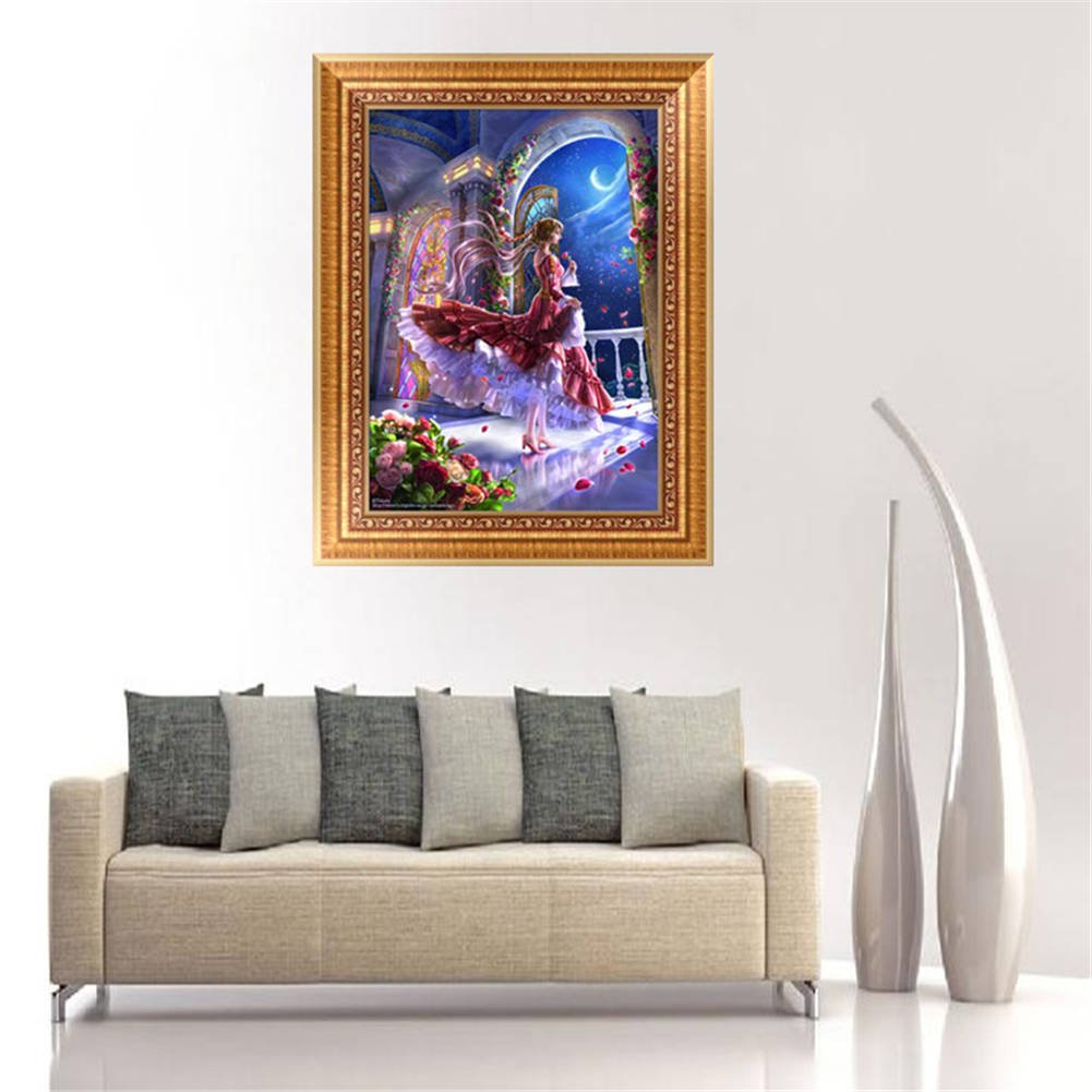 Fairy /& Moon Freeas 5D DIY Diamond Painting Rhinestone Pictures Of Crystals Embroidery Kits Home Wall Decoration Craft Figure Theme