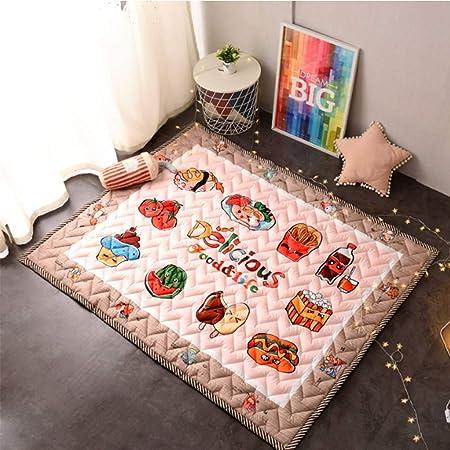 Sin marca Tapete de Juego para Niños Bebé Gateando Gimnasio Yoga de Alfombra de Algodón Antideslizante Lavable Decoración de Habitaciones Infantiles Mesita de Noche,Jirafa,145 * 195 (Color : 20): Amazon.es: Hogar