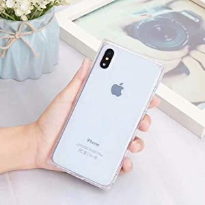 Transparent Case for iPhone Xs MAX,Tzomsze Reinforced Corners TPU Cushion,Crystal Clear Slim Cover Shock Absorption TPU Silicone Shell-White