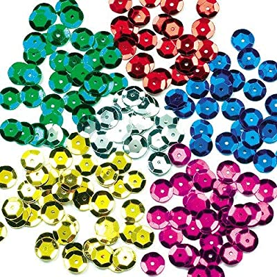 Baker Ross Colored Sequins Value Pack — Kids' Crafts and Art Projects, Cards, Party Bags, and Decorations (90g): Arts, Crafts & Sewing