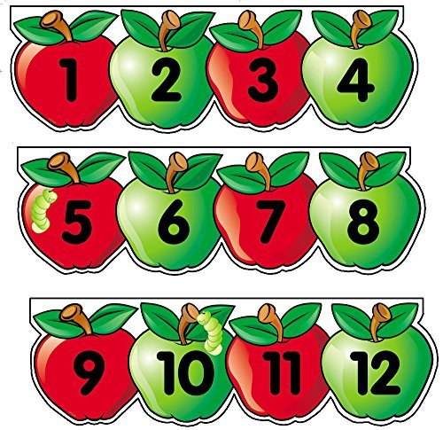 Creative Teaching Press Apples Number Line Mini Bulletin Board Set (0616) by Creative Teaching Press