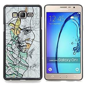 "Planetar ( Silueta Espejo Silver Glitter"" ) Samsung Galaxy On7 O7 Fundas Cover Cubre Hard Case Cover"