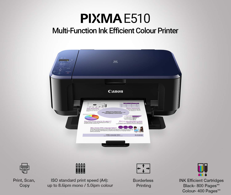 Canon E510 Multi Function Ink Efficient Colour Printer Amazonin Computers Accessories