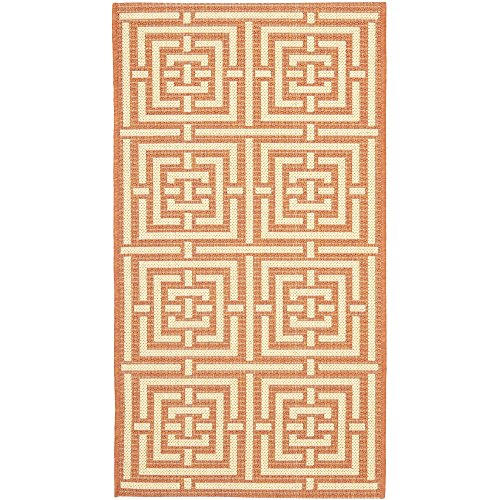 Safavieh Courtyard Collection CY6937-21 Terracotta and Cream Indoor/ Outdoor Area Rug (2' x 3'7