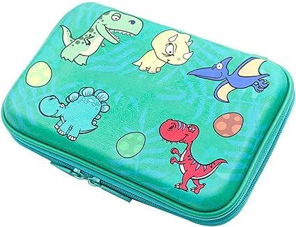 Estuche divertido con diseño de dinosaurio de dibujos animados de goma EVA, gran capacidad, para estudiantes, niños, papelería, escuela, oficina, suministros de kangxiaoyan: Amazon.es: Oficina y papelería